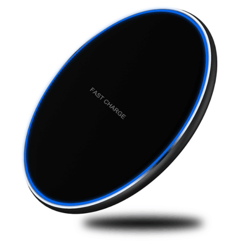 For Samsung Galaxy S8 S9 S10 Plus QI Wireless Charger Fast Charging Dock Mat Pad black