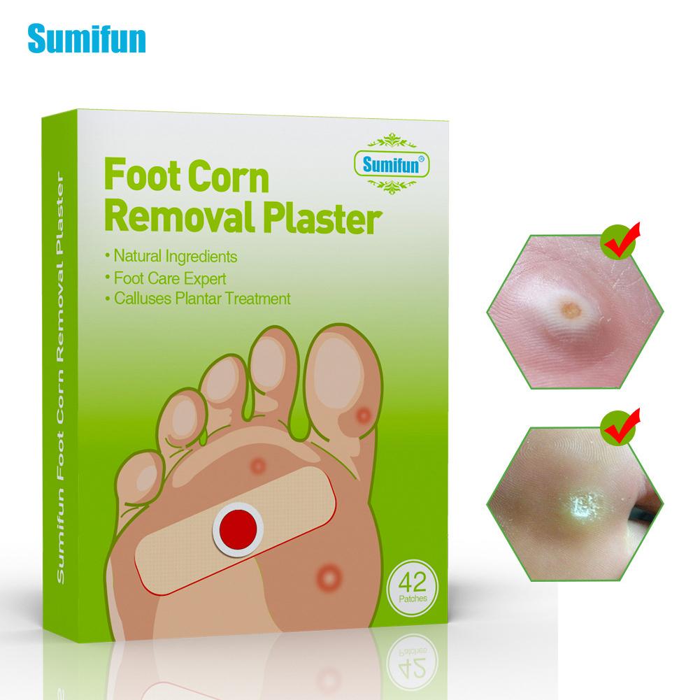 42 Pcs Remove Corns Paste Old Cocoon Thorn Foot Corn Paste Detox Foot Pads Patches Feet Care M_42pcs
