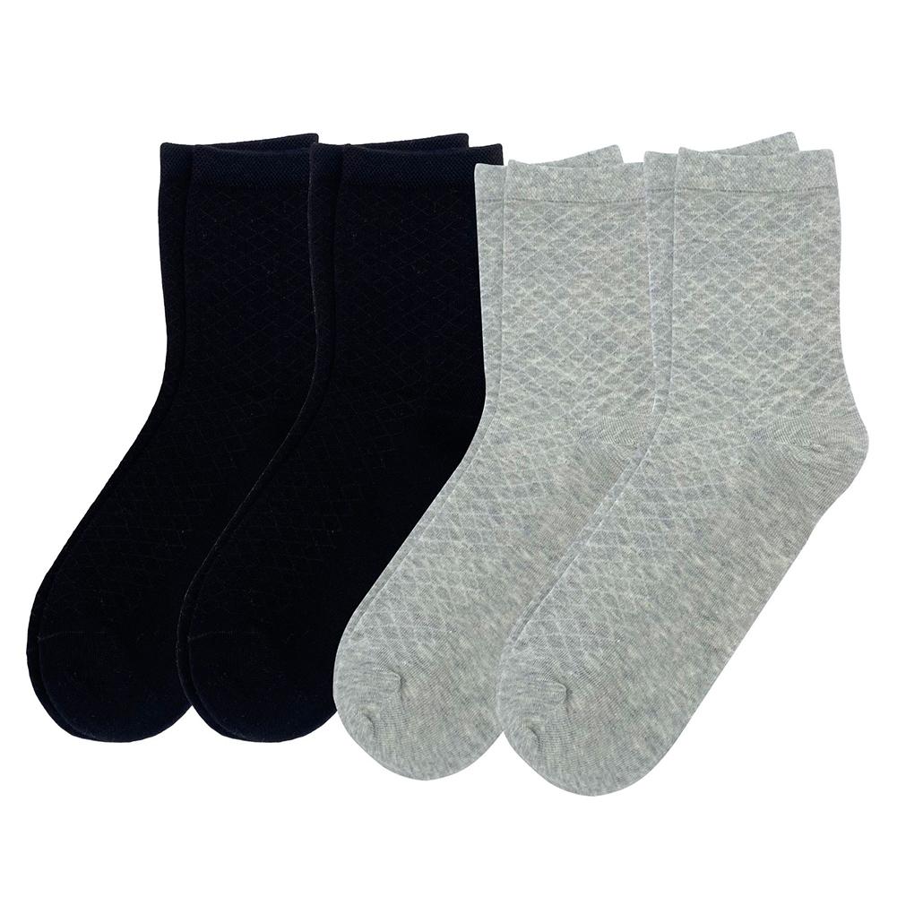 4Pairs Women Cotton Mid-calf Length Socks Breathable Mesh Socks 2#_One size