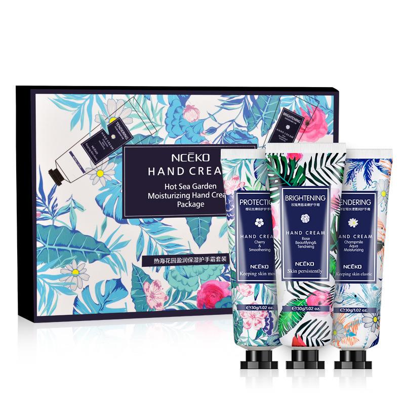3Pcs/Set Moisturizing Fragrance Hand Cream Hand Massage Lotion Repair Anti-cracking Nourishing Hand Care 3PCS/Box
