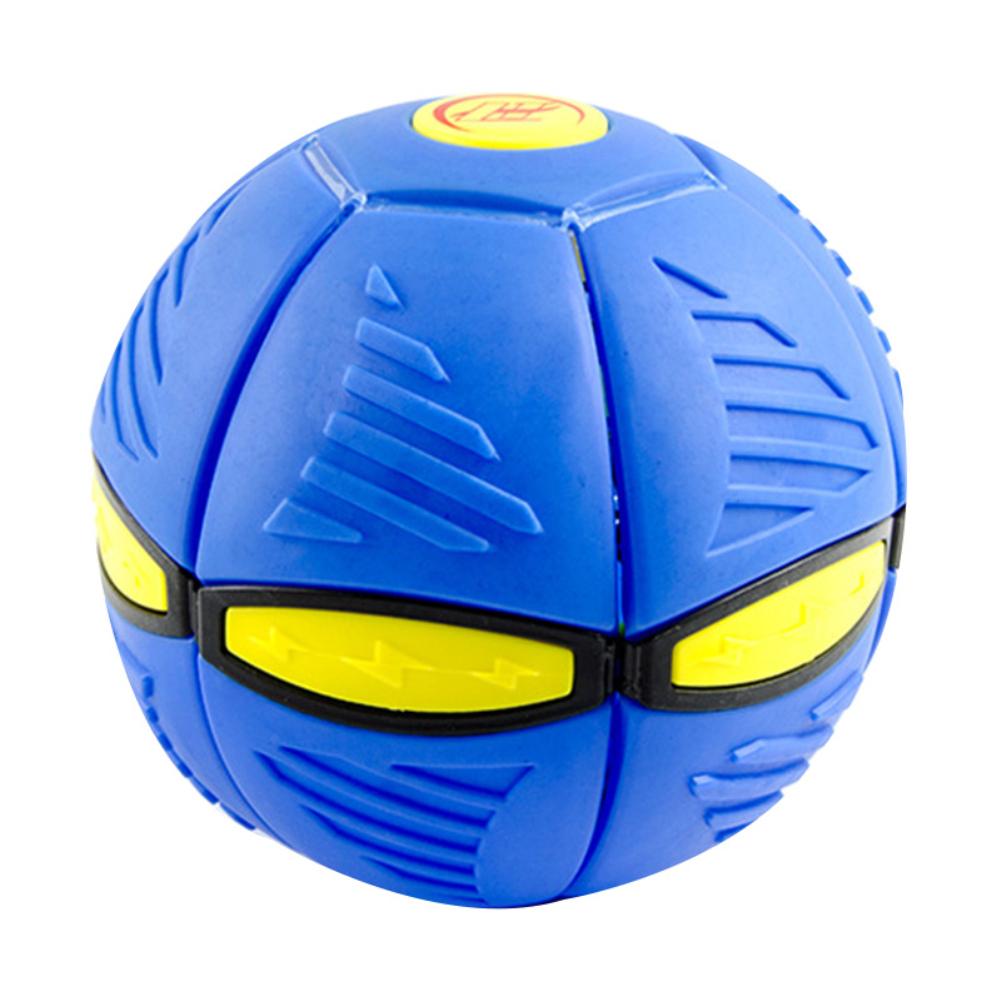 Magic  Flying  Saucer  Ball Deformation Ball Led Light Music Elastic Vent Ball Gift For Kids Blue