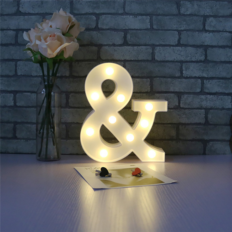 LED Marquee Letter Character Lights A - Z Alphabet Light Up Sign Decor &