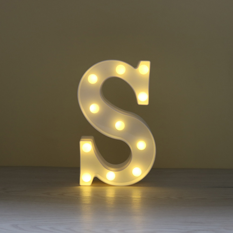 LED Marquee Letter Character Lights A - Z Alphabet Light Up Sign Decor S
