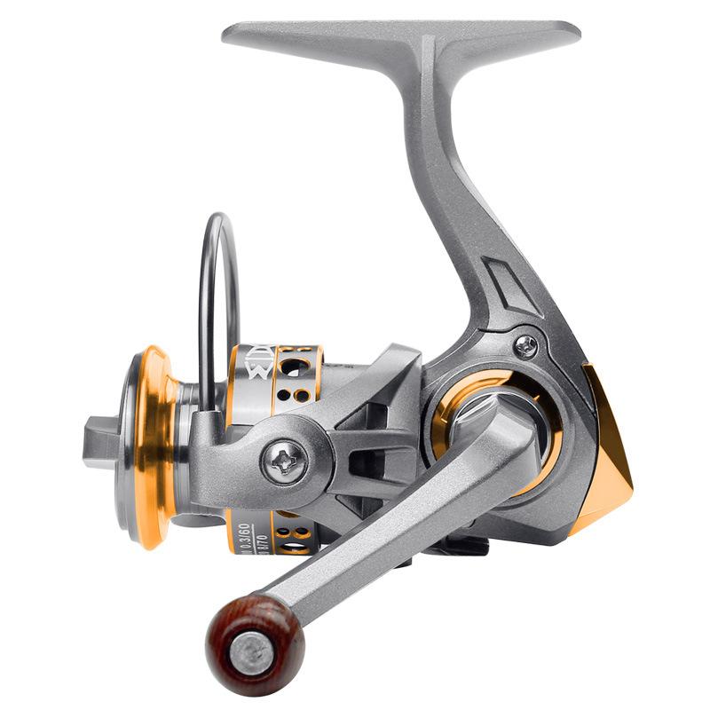 Mini Full Metal Head Fishing Wheel High Strength Fishing Reel AK150 universal spinning wheel