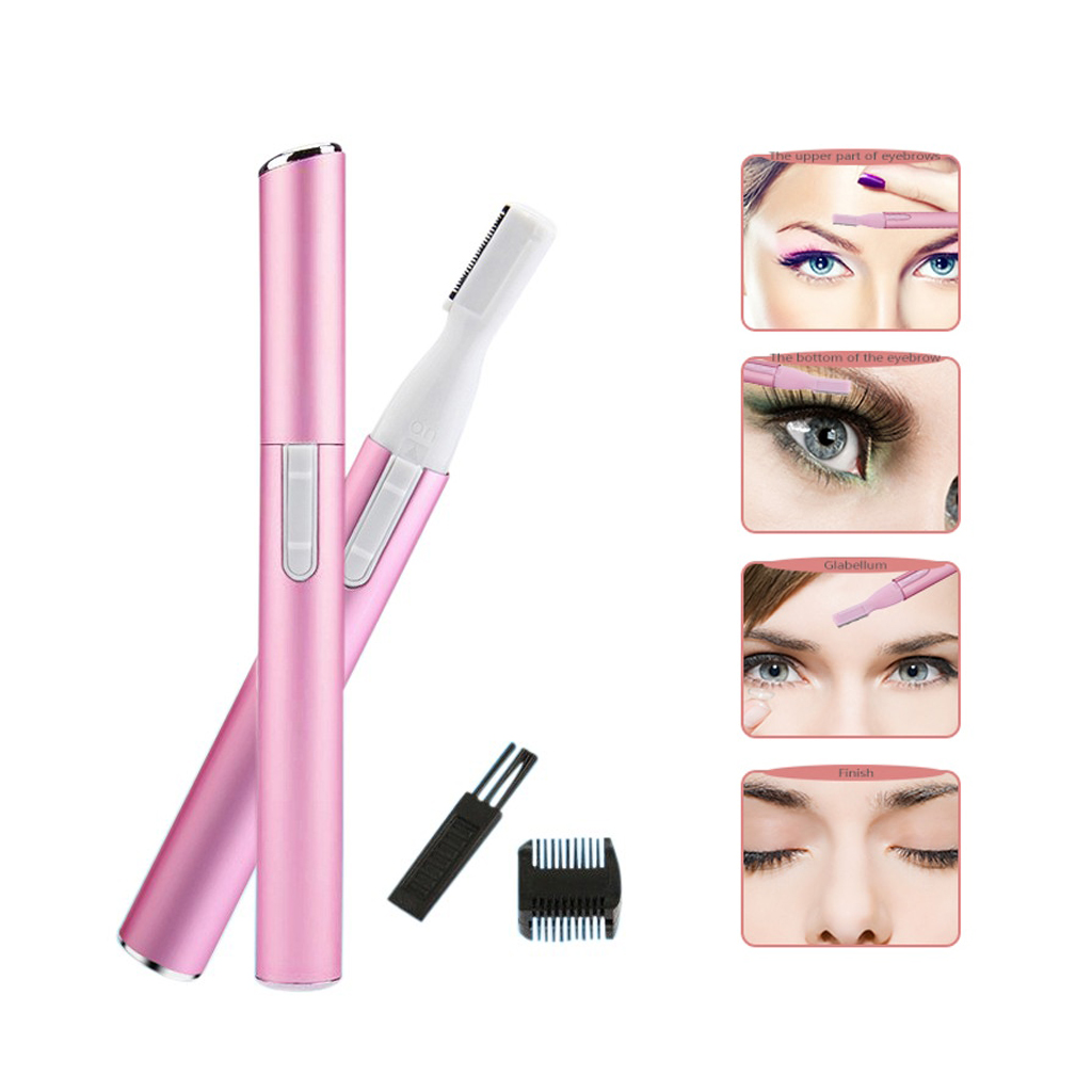 J-AA 210 Electric Eyebrow Trimmer Pink
