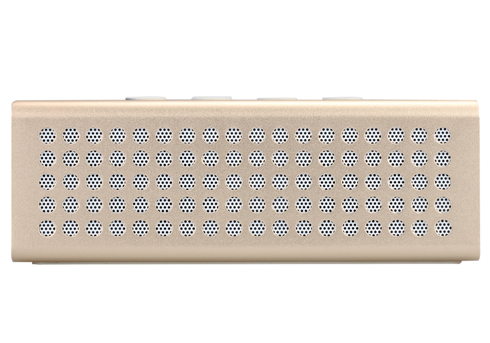 20 Watt Bluetooth Speaker + Power Bank - 4400mAh Battery, Bluetooth 2.1+EDR, Hands Free, Micro SD Card Slot, Aux In (Golden)