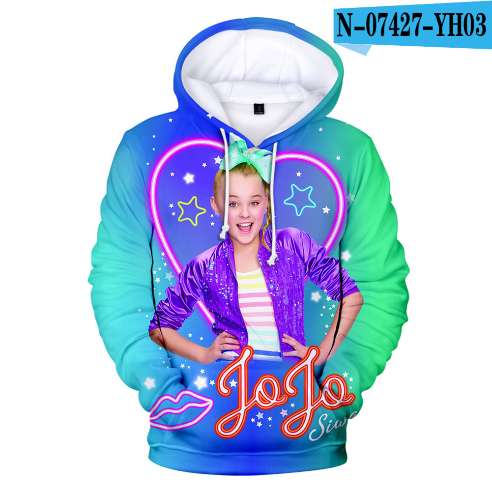 Men Women Hoodie Sweatshirt 3D Printing JOJO SIWA Loose Autumn Winter Pullover Tops F_L