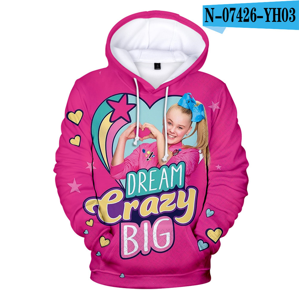 Men Women Hoodie Sweatshirt 3D Printing JOJO SIWA Loose Autumn Winter Pullover Tops E_XXL