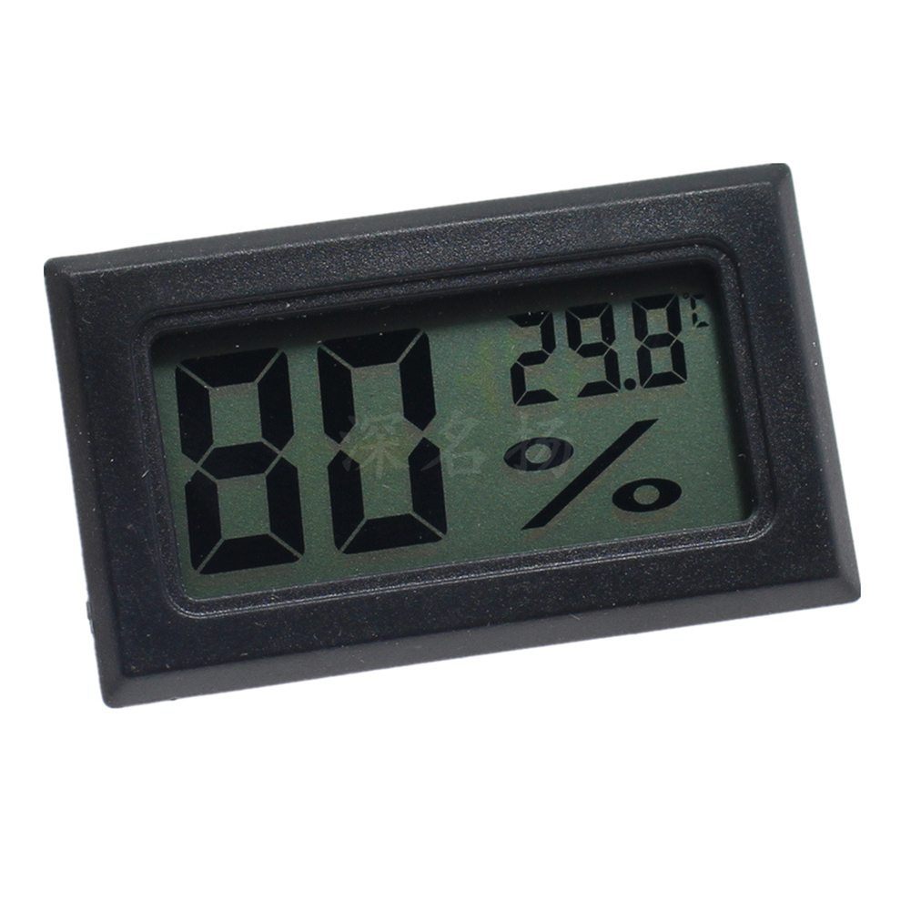[Indonesia Direct] Mini LCD Digital Thermometer Hygrometer Indoor Portable Temperature Sensor Humidity Instruments black