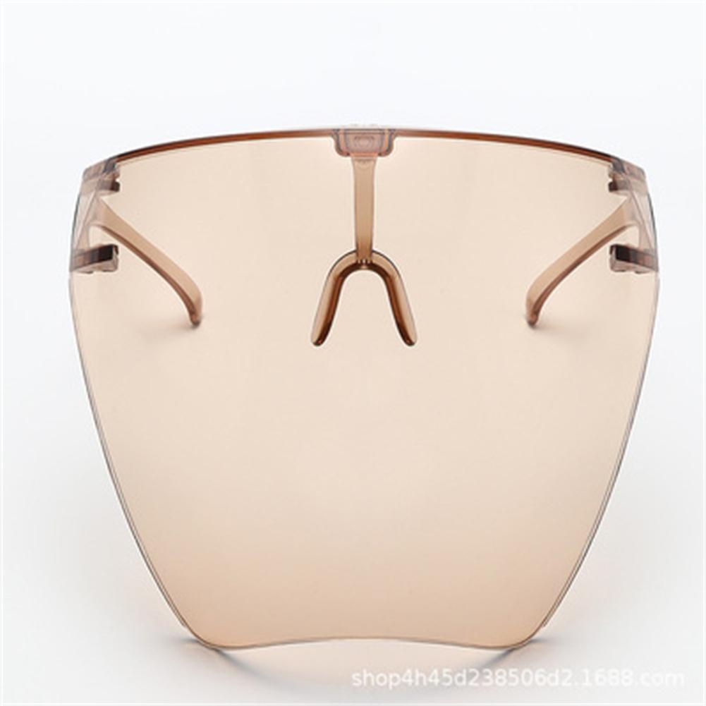Transparent Protective  Mask Anti-fog Large Frame Full Face Anti-spray Faceshield Whole tea 8