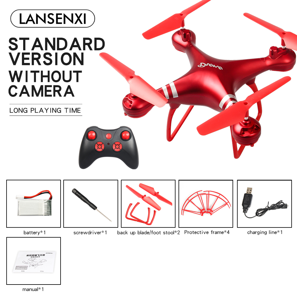 [Indonesia Direct] LF608 Wifi FPV RC Drone Quadcopter with 0.3MP/2.0MP/5.0MP Camera Get the Longer Playing Time Red without camera