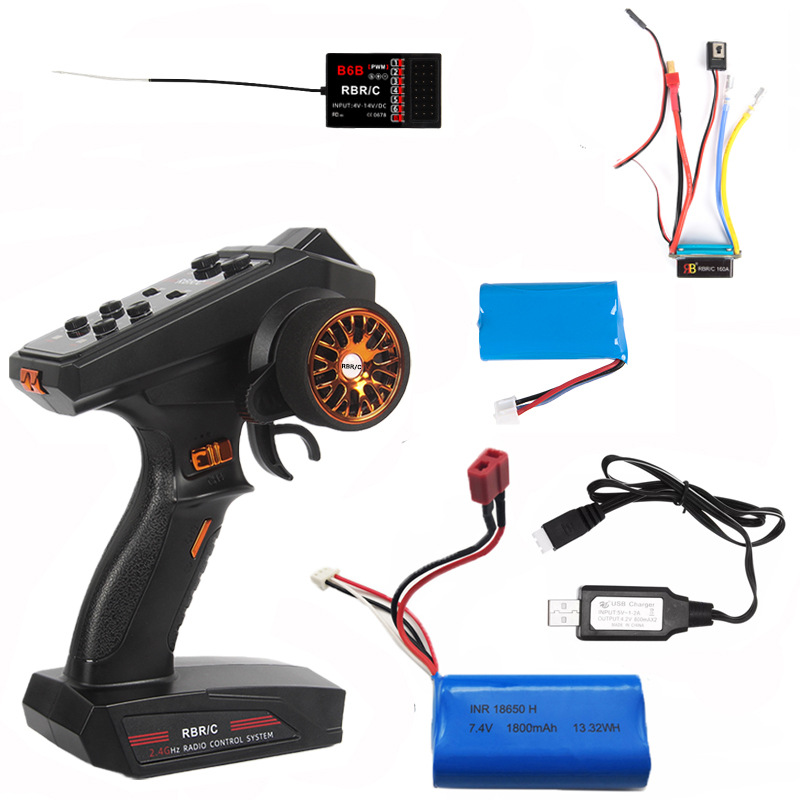 C2.4g Channel  Remote  Control Diy Upgrade Modified Model Toy For Most Of Remote Control Car/boat/tank B6 B6BD power set