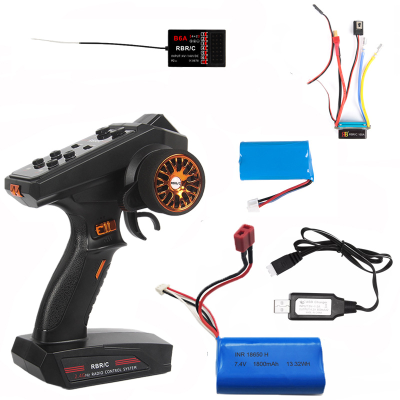 C2.4g Channel  Remote  Control Diy Upgrade Modified Model Toy For Most Of Remote Control Car/boat/tank B6 B6AD power set