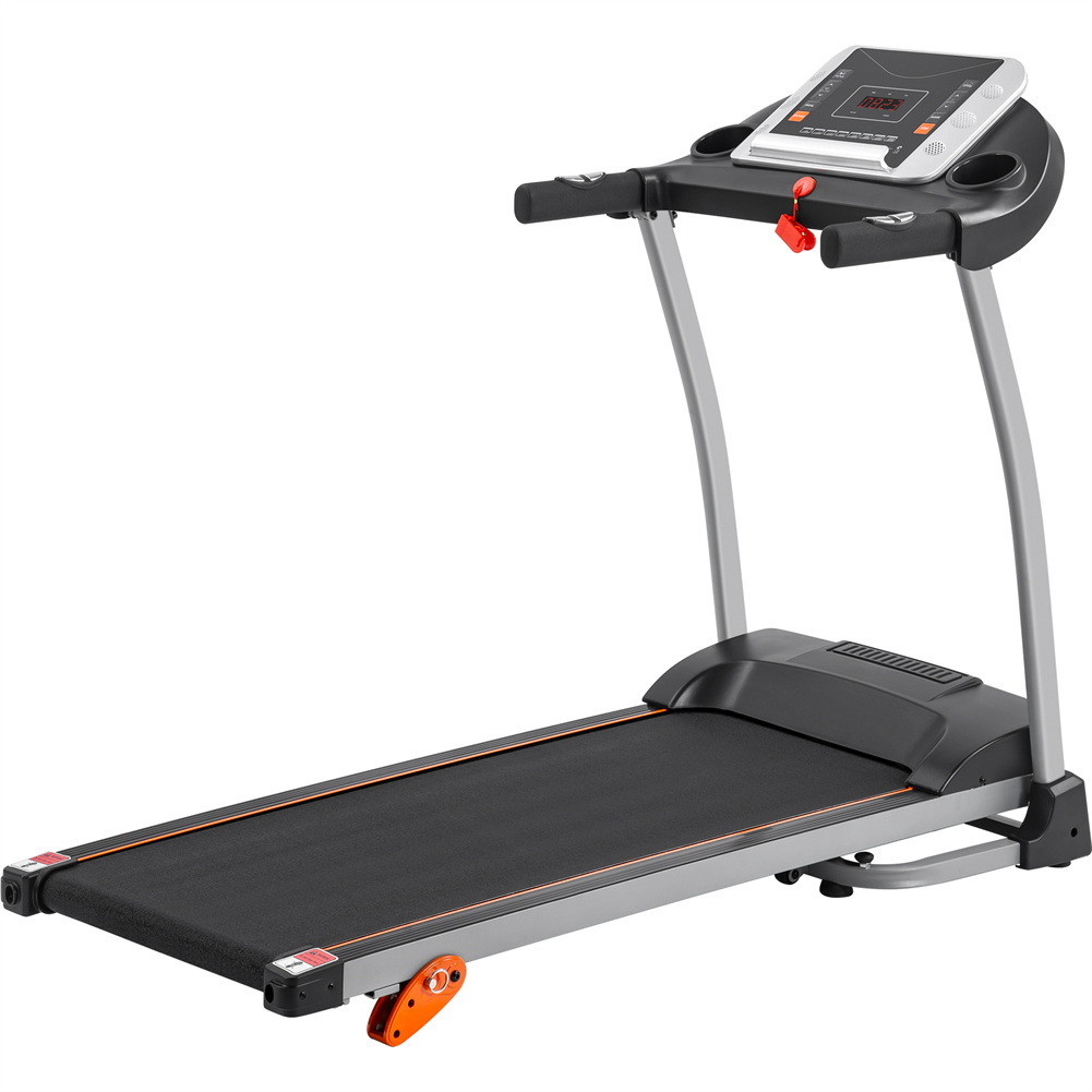 [US Direct]   Folding  Treadmill 1.5hp Electric Running, Jogging Walking Machine With Device Holder And Pulse Sensor 3-level Adjustable Inclining Gray