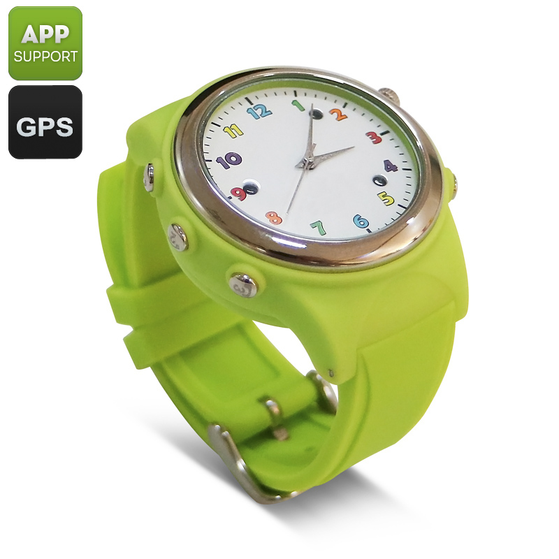 Kids Watch Phone With GPS Tracker (Green)