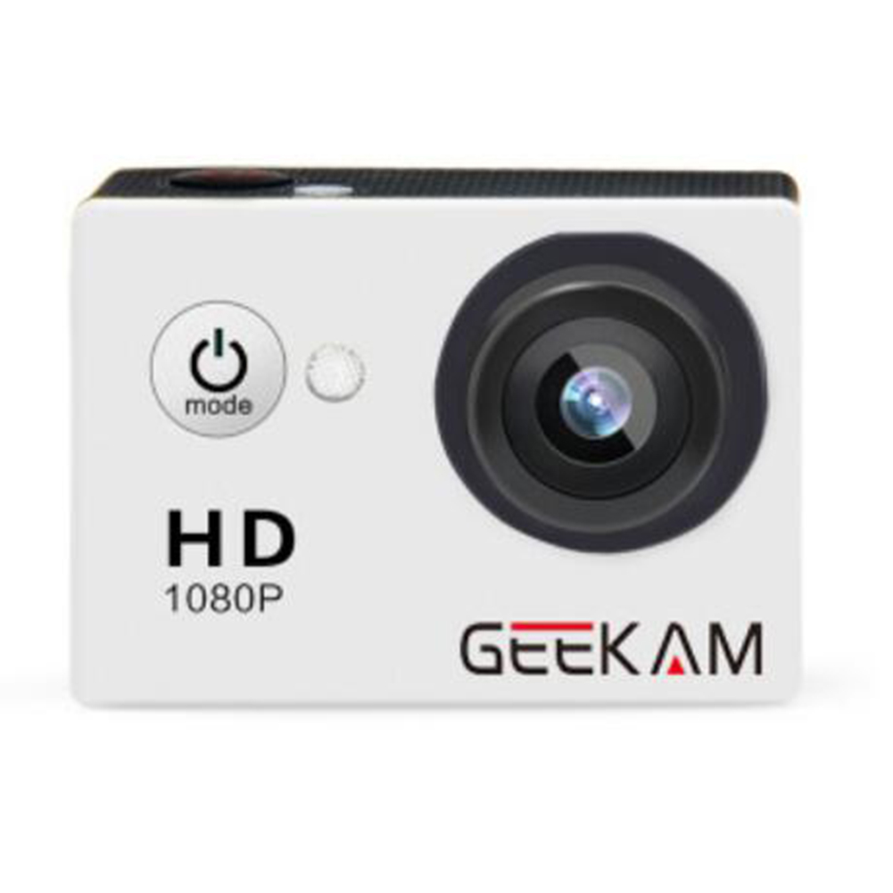 GEEKAM A9 HD 1080P Waterproof Camera White