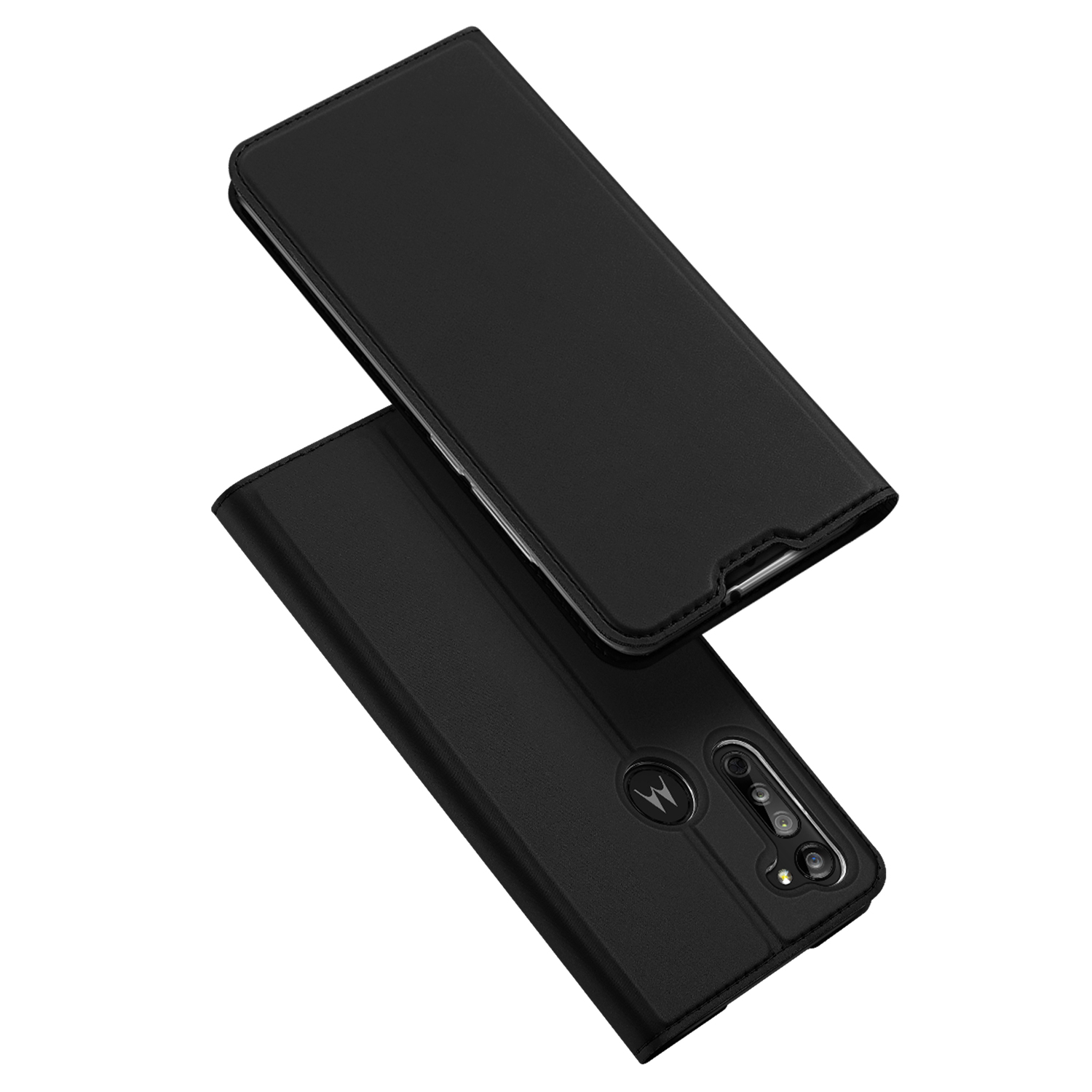 DUX DUCIS For Moto G8/G8 Power Leather Mobile Phone Cover Magnetic Protective Case Bracket with Cards Slot black_Moto G8
