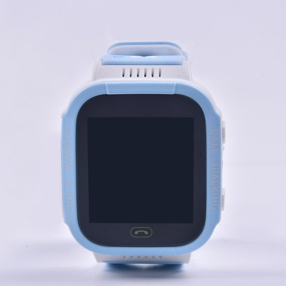 Anti-lost Child Kid Smartwatch Positioning GPS Wristwatch Track Location SOS Call Safe Care Y21 touch screen version white and blue
