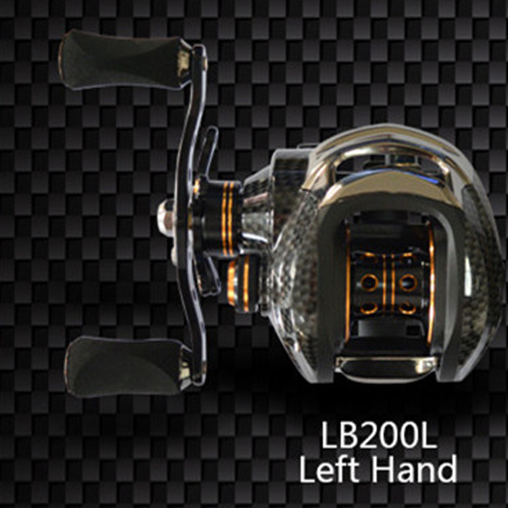 Double Brake Low-Profile Reel Baitcasting Fishing Reel Ocean Baitcast Drag Fishing Baitcaster Reel XLSDLLB200 left hand