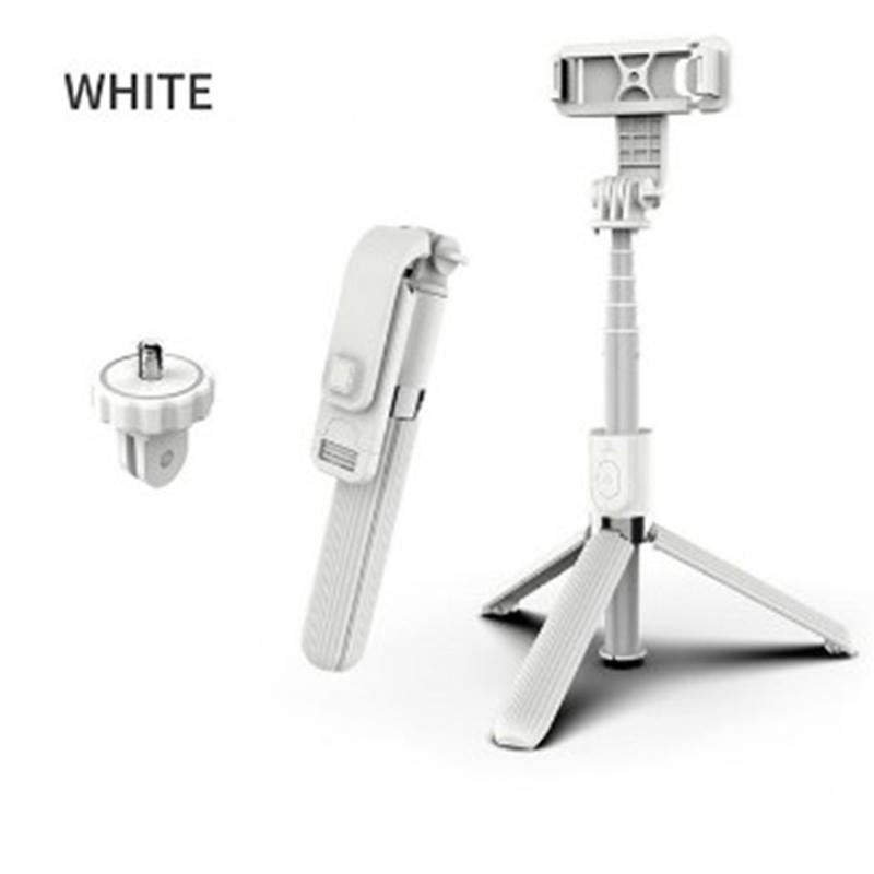 L03 Selfie Stick Bluetooth Selfie Tripod Foldable Handheld Monopod Tripod Shutter Remote Camera white