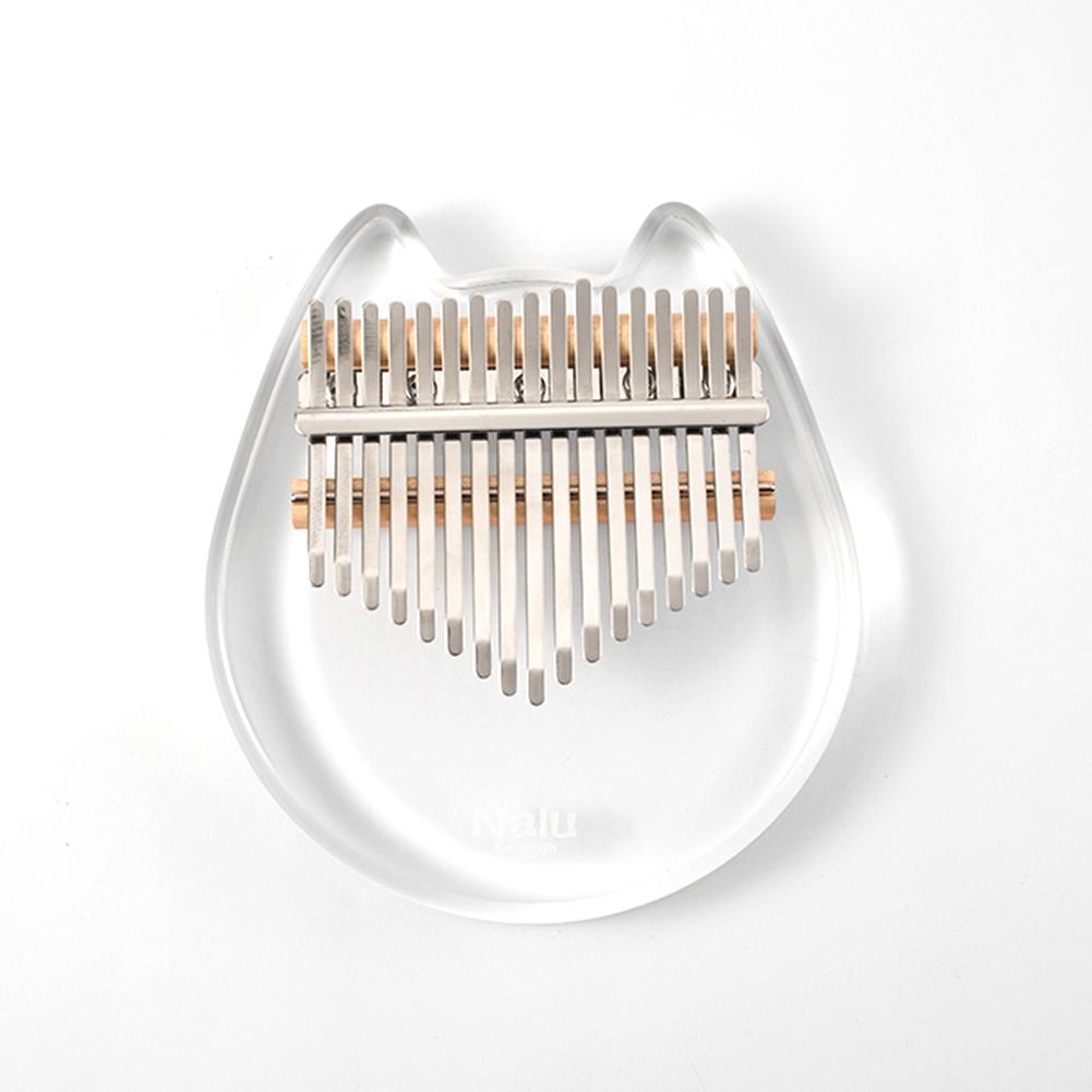 Nalu NK-CT Crystal Cat 17 key Kalimba Acrylic Thumb Piano Mbira Transparent Keyboard Instrument