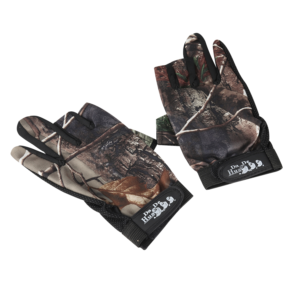 [EU Direct] Fingerless Gloves Breathable Antiskid Fishing Gloves Outdoor Waterproof Sun Protection Gloves