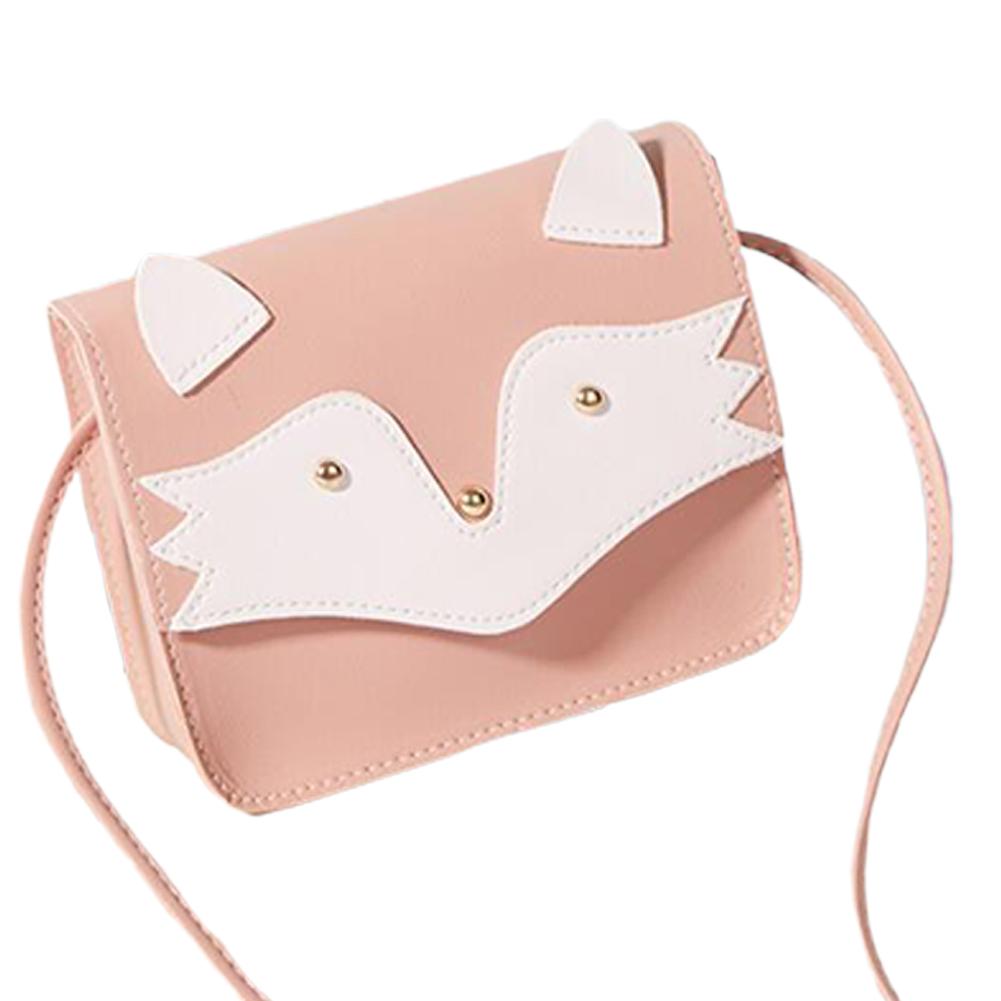 Women Mini Cellphone Bag Satchel Cartoon PU Leather Combined Color Single Strap Square Bag Pink
