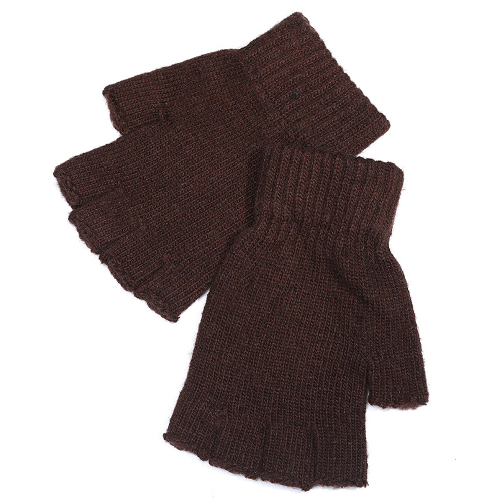 Men Knitted Wool Riding Gloves