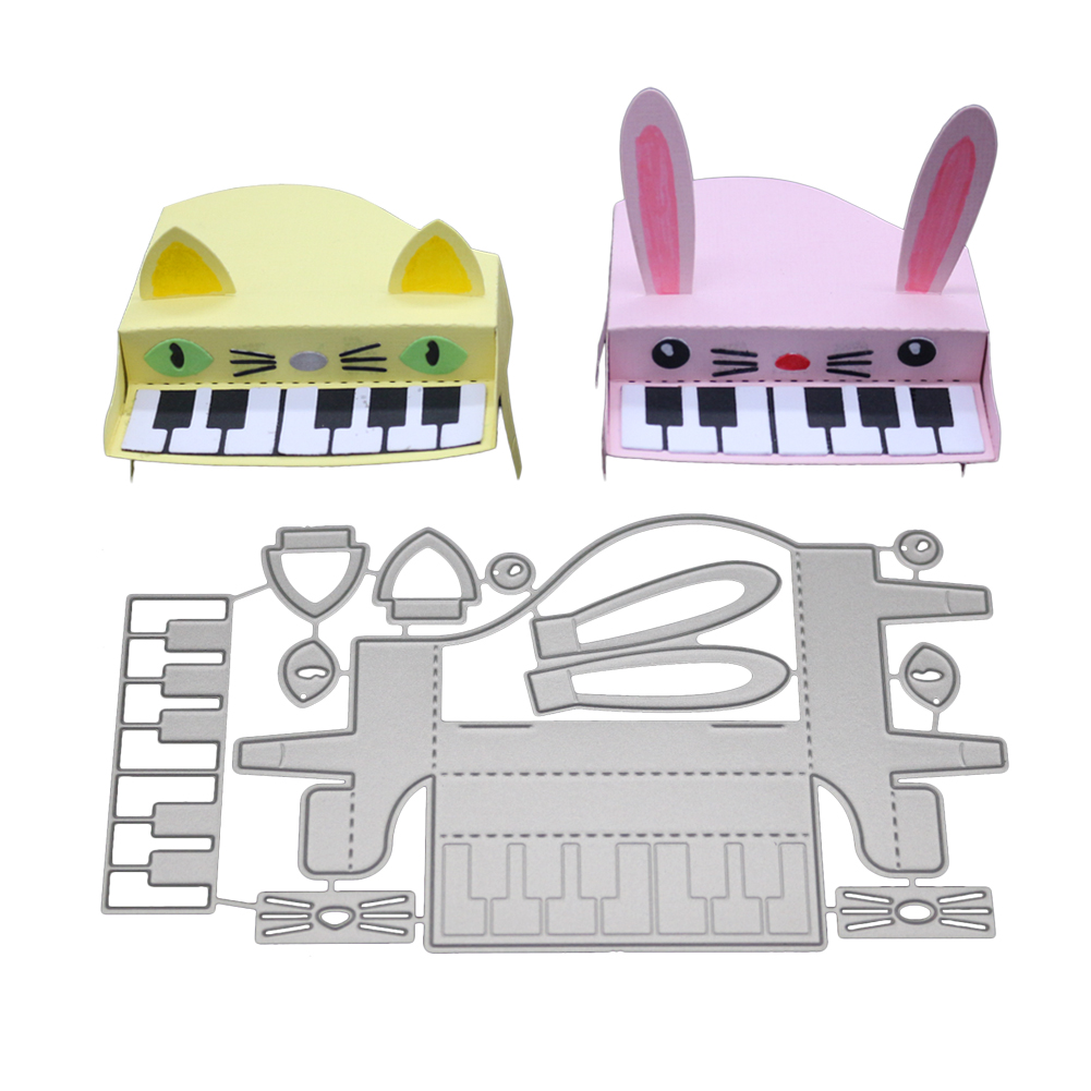 Three-dimensional Piano New Craft Cutting Dies for Scrapbook Party DIY Decoration 2018