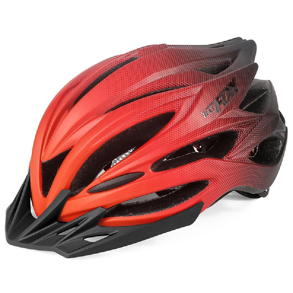 Bicycle Helmet Eps Mountain Bike Riding Helmet Skateboard  Safety  Helmet  With Light Black red_Free size