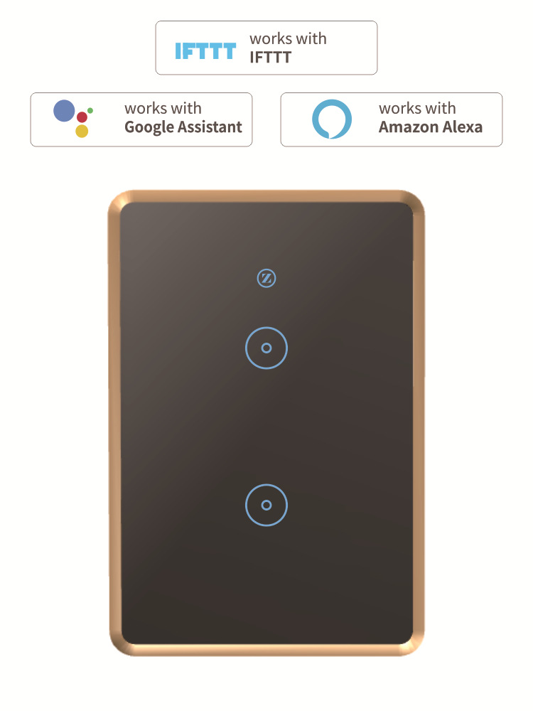 Intelligent Switch WiFi Light Switch Remote Control Switch US AUS Plug black