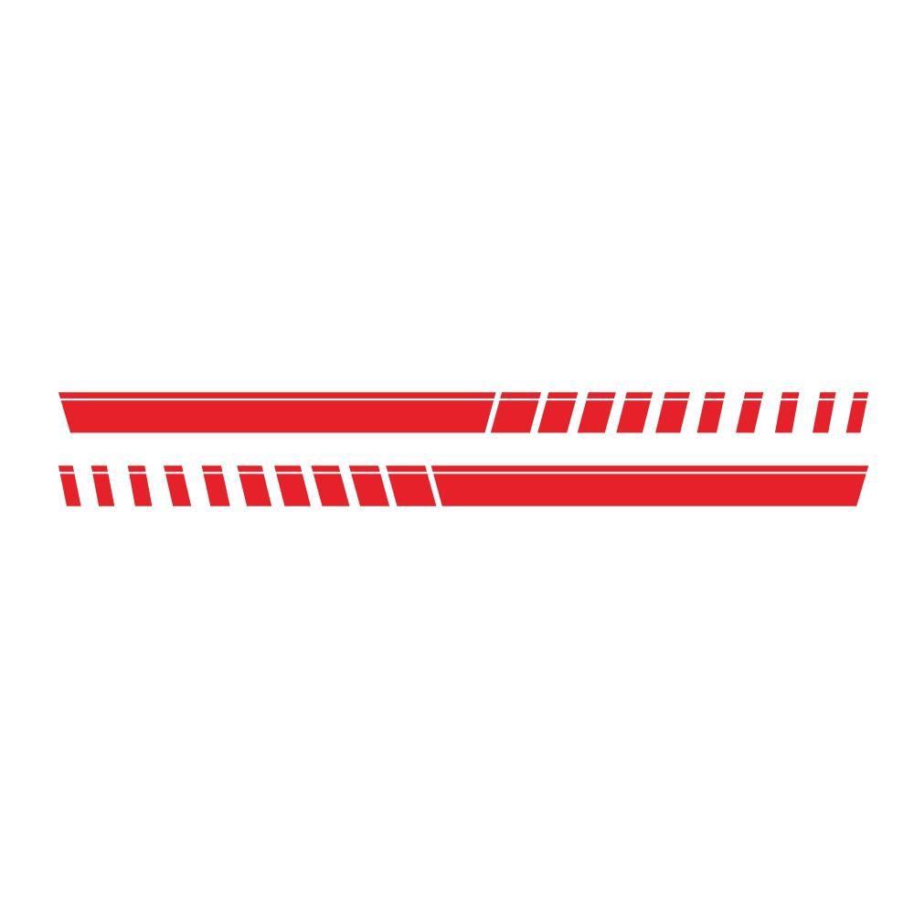For Pickup Truck Vinyl Decal Sticker Graphics Sport Side Door Stripe Car Sticker  red