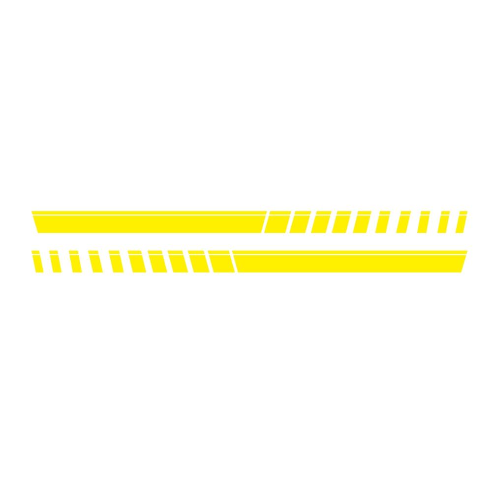 For Pickup Truck Vinyl Decal Sticker Graphics Sport Side Door Stripe Car Sticker  yellow