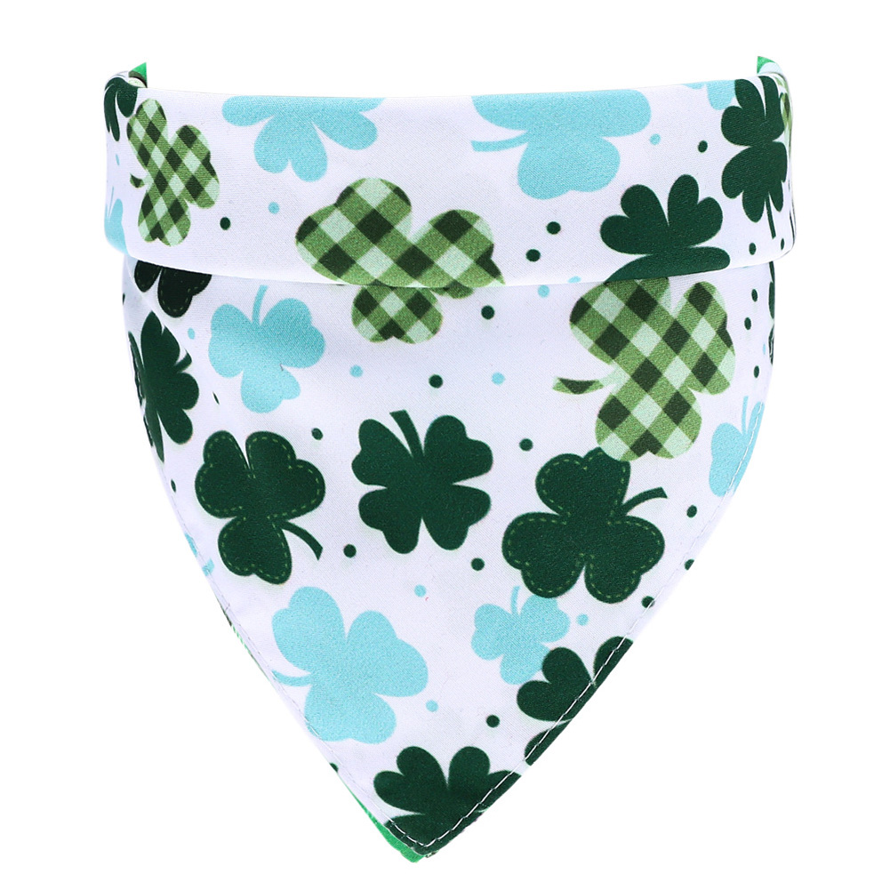 Lucky Green St. Patricks Day Pet Bandanas Scarf Saliva Towel white background