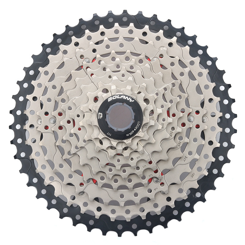 9 Speed 46T Single Speed Mountain Bikes Mtb Wide Ratio Bicycle Cassette 9 27S46T