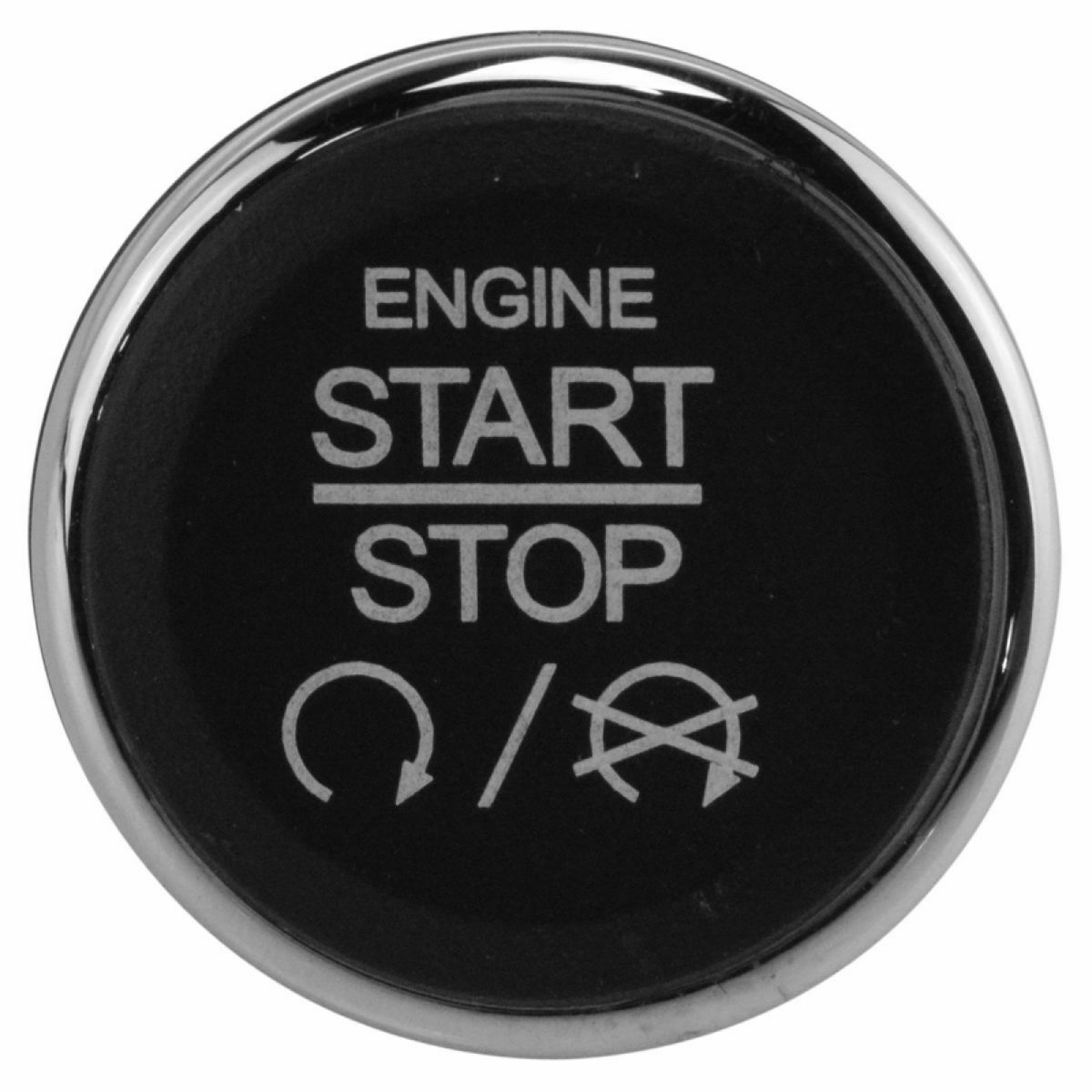 One-click Starting Switch Ignition Starter Switch Dash Mount Push Button For Jeep Dodge Chrysler Black