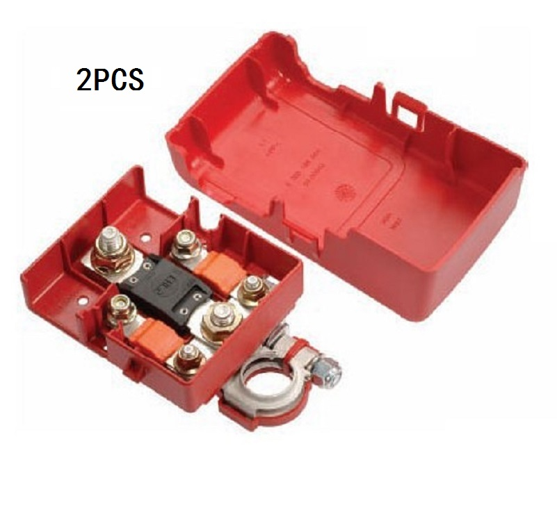 Car Battery Distribution Terminal Quick Release Pile Head Connector Auto Accessories 32V 400A Battery pile head with cover