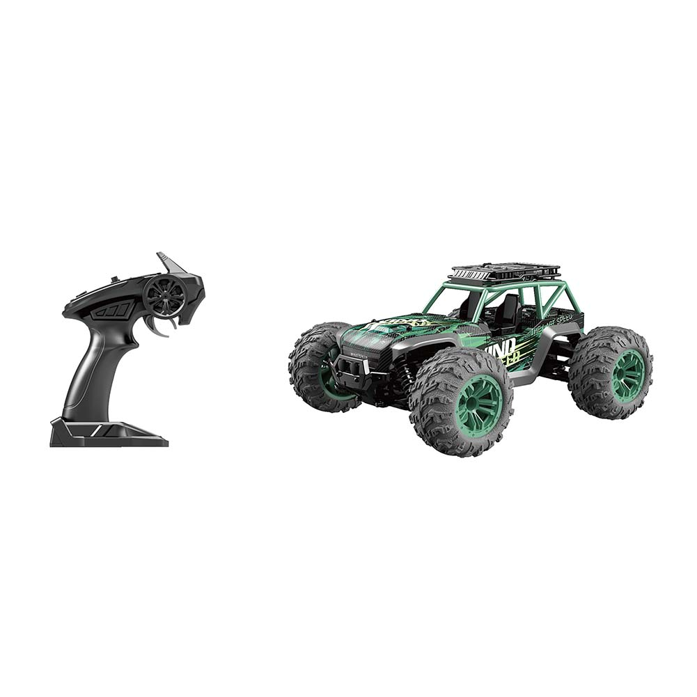 1/14 Scale RC Car Simulation Model Toy Four Wheel Drive Off-road Vehicle Gift for Kids green_G168