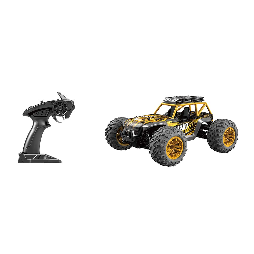 1/14 Scale RC Car Simulation Model Toy Four Wheel Drive Off-road Vehicle Gift for Kids yellow_G168