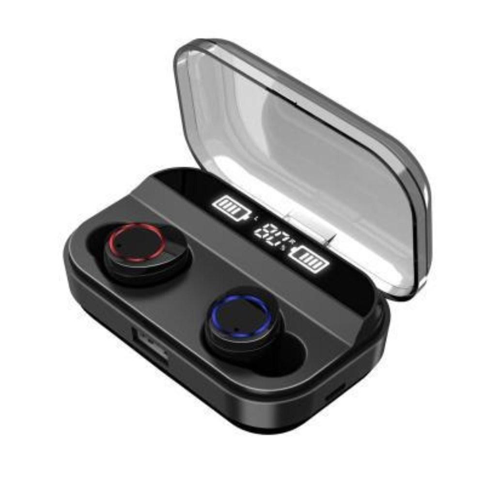 X11 In-ear TWS5.0 Wireless Sports Business Bluetooth Headset Dual Display black