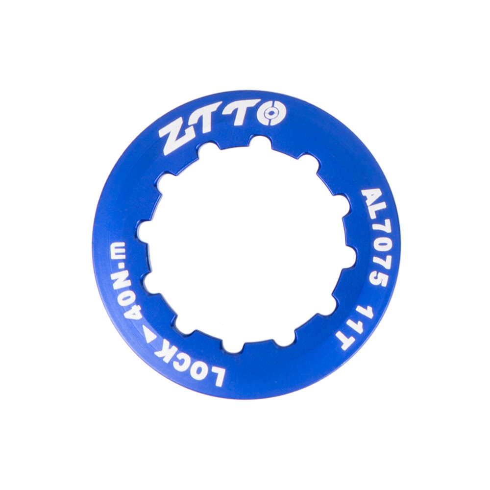 ZTTO Flywheel Cover Ultra Light 7075 Aluminum Alloy Flywheel Cover Mountain Bike Road Bike Flywheel Locking Cover Ring blue