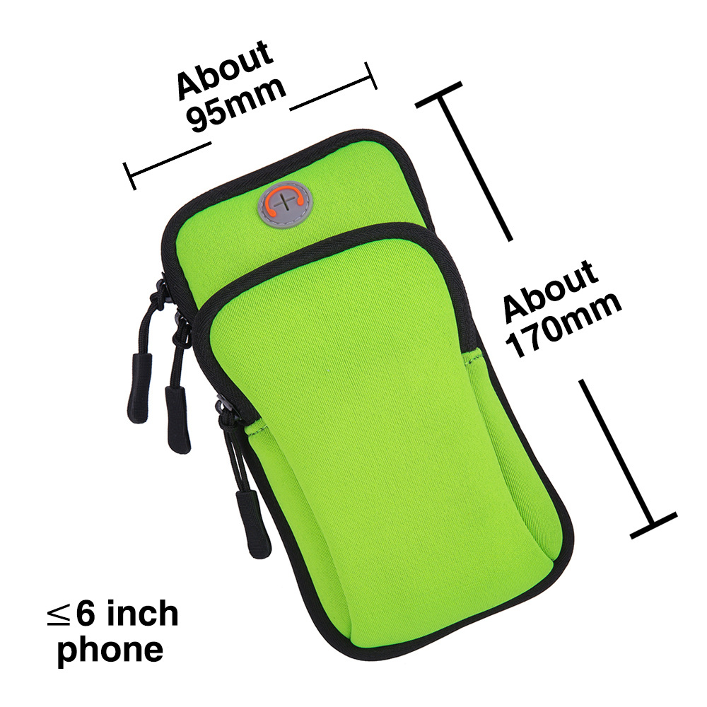 Mobile Phone Arm Bag Marathon Night Running Mobile Phone Arm Pack Bicycle Equipment Compatible Universal Waterproof Sports Bracket green