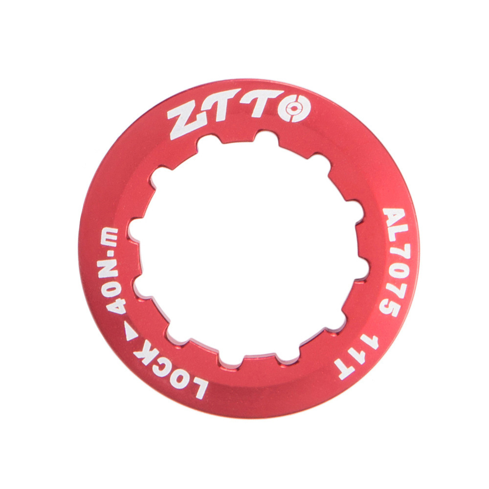 ZTTO Flywheel Cover Ultra Light 7075 Aluminum Alloy Flywheel Cover Mountain Bike Road Bike Flywheel Locking Cover Ring red