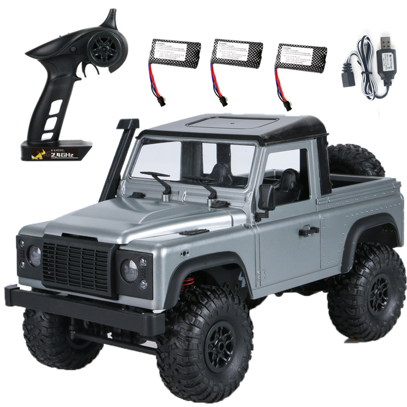 RC Cars MN 99S-A 1:12 4WD 2.4G Radio Control RC Cars Toys RTR Crawler Off-Road Buggy For Land Rover Vehicle Model Pickup Car Triple battery