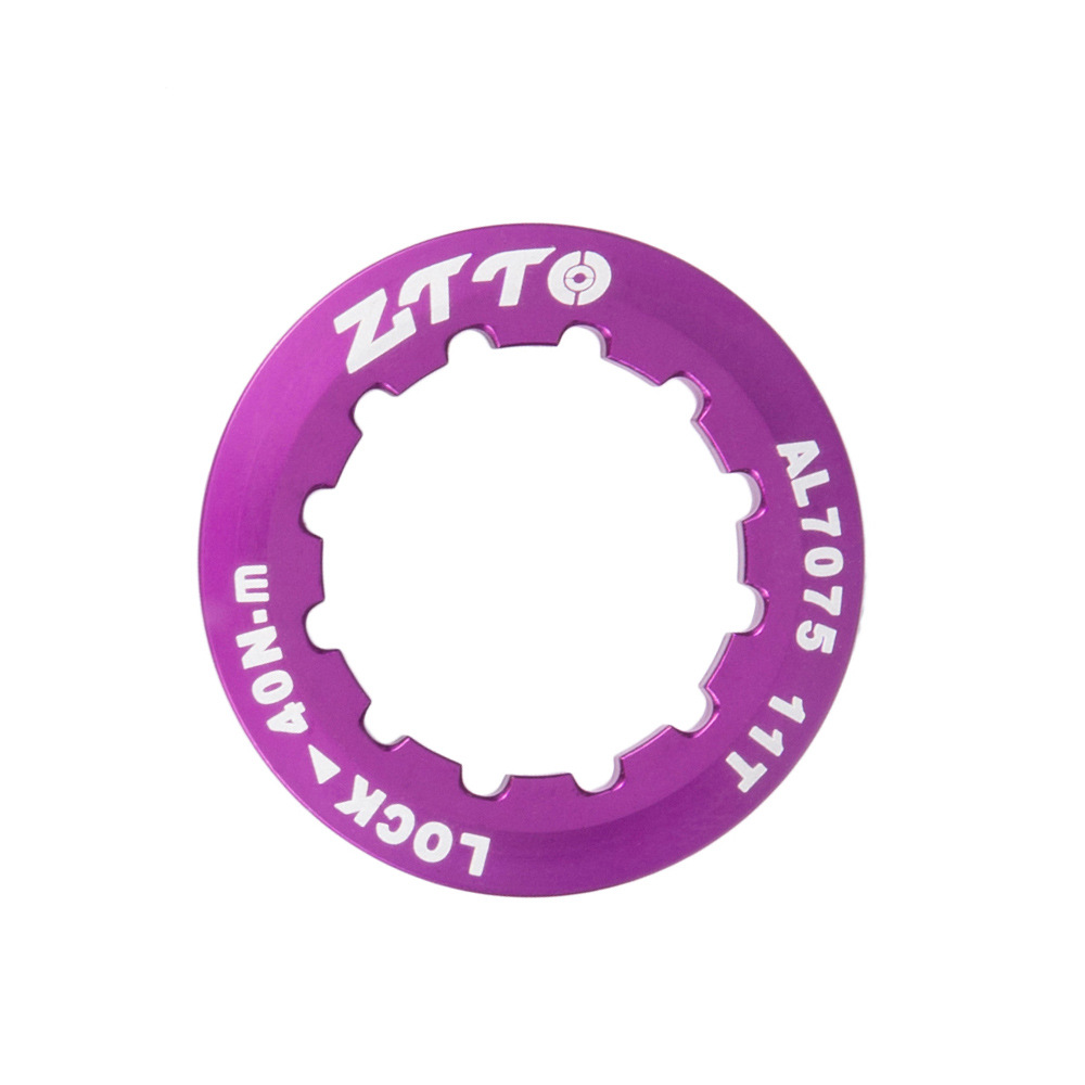 ZTTO Flywheel Cover Ultra Light 7075 Aluminum Alloy Flywheel Cover Mountain Bike Road Bike Flywheel Locking Cover Ring purple