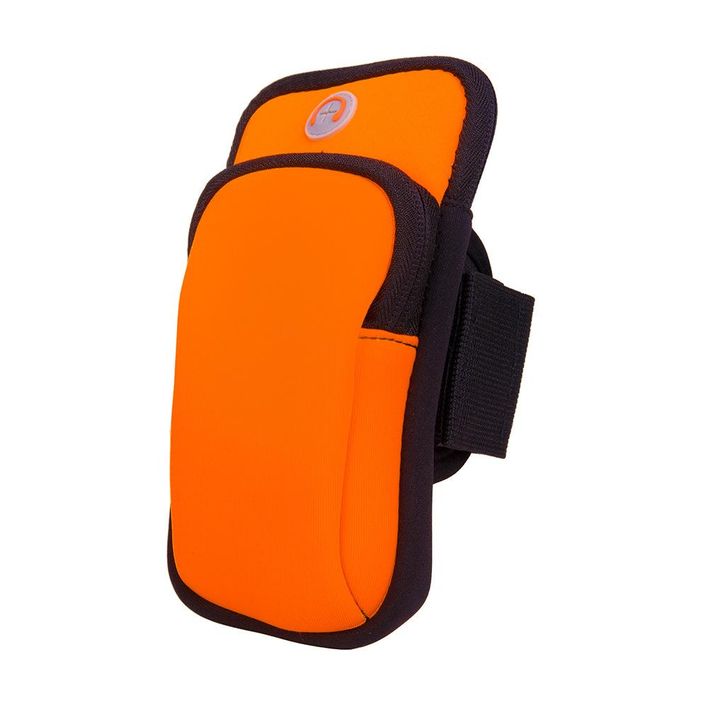 Mobile Phone Arm Bag Marathon Night Running Mobile Phone Arm Pack Bicycle Equipment Compatible Universal Waterproof Sports Bracket Orange