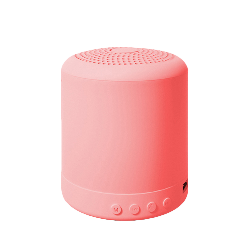 Portable Speaker Bluetooth Wireless Stereo Speakers Mini Column Bass Music Player 5W Speaker Box Bas Pink