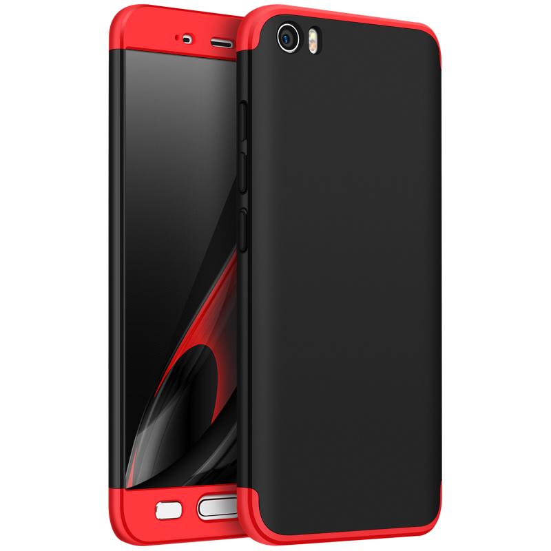 For XIAOMI MI 5 Slim 3 in 1 Hybrid Hard Case Full Body 360 Degree Protection Back Cover  Red black red