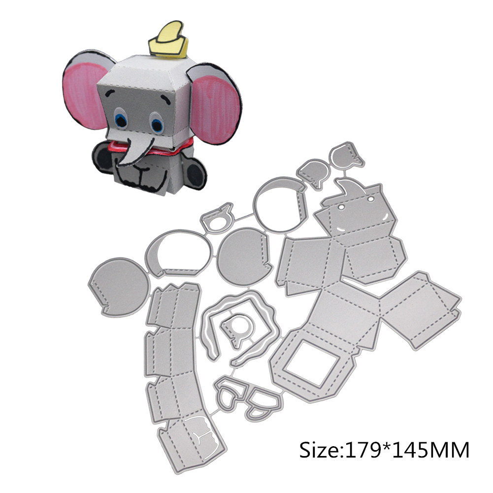 Cute Stereo Piano/Ice Cream Truck/Elephant/Decorative Box Carbon Steel Cutting Dies for DIY Scrapbook 1804378