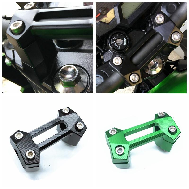 Motorcycle Handlebar Handle Bar Riser Clamp Kit for Kawasaki Z250 Z300 Z800 black